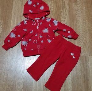 Toddler girl sweatshirt and sweatpants